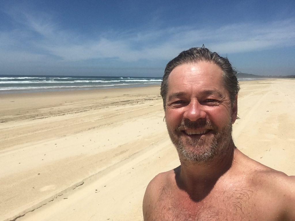 person smile ocean
